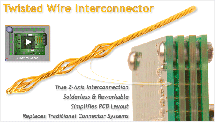 Medallion Technology: high density interconnects, 3D interconnects, solderless interconnects, PCB interconnects